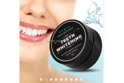 Miracle Teeth Whitening Powder Organic Activated Charcoal Bamboo (30g)