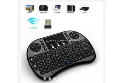i8 2.4G Fly Air Mouse Wireless Gaming Keyboard Touchpad Smart TV