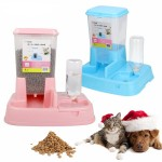 2 in 1 JAPANESE  AUTOMATIC PET FOOD WATER FEEDER DISPENSER - BLUE