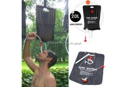 20L Solar Outdoor Heated Camp Water Shower Bag for Camping Hiking