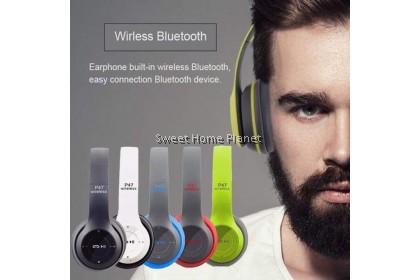 Powerful P47 Wireless Bluetooth 4.1 FM Radio Headphones Headset
