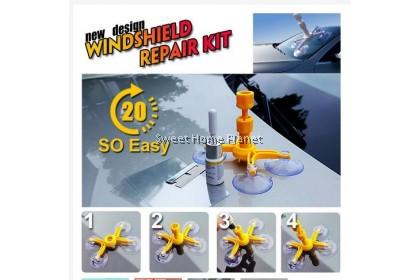 Car Window Glass Crack Chip Windscreen Windshield Repair DIY Tool Kit Set