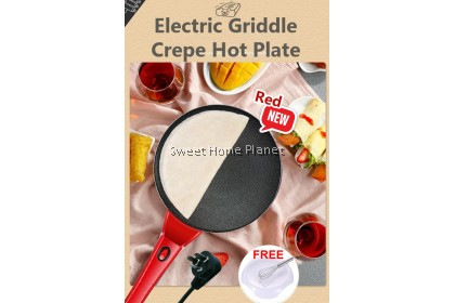 Electric Griddle Crepe Hot Plate (Free Container + Beater)