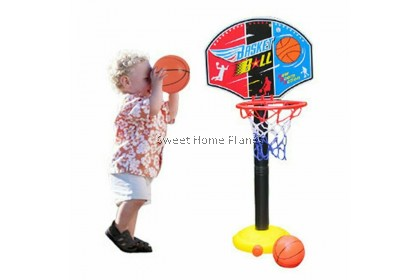 【FREE: Pump】 Children Basketball Indoor Outdoor Height Adjustment Hoop Play