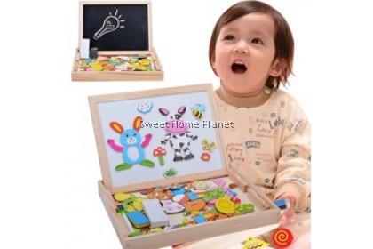 2in1 Magnetic Drawing Black n White Board