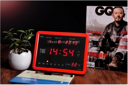 Led Wall Clock With Sound
