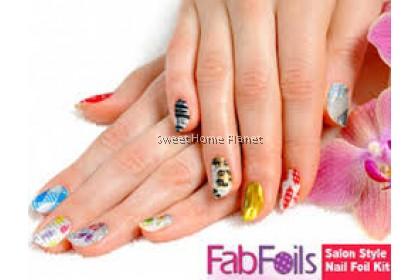 FAB FOILS 13-piece Nail Art Kit Nail Foil Design