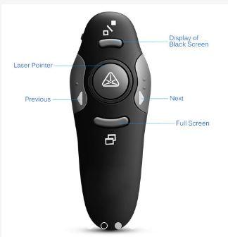 USB 2.4GHz Wireless Presenter RF Remote Laser Pointer Pen