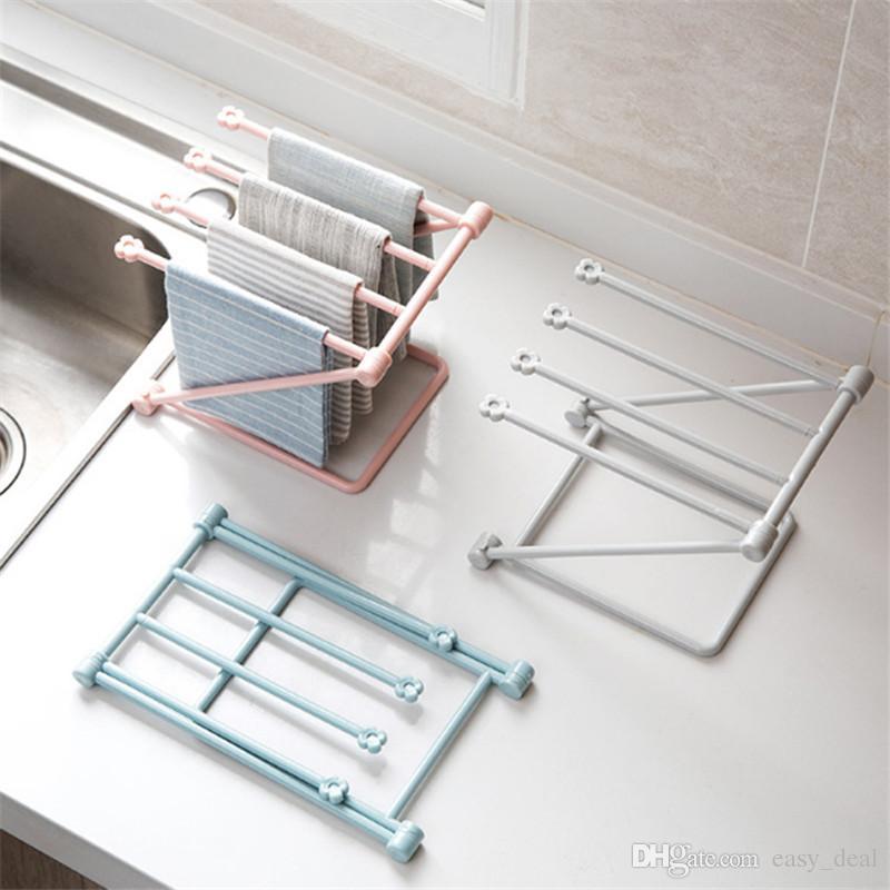 Foldable Kitchen Dinning Cloth Towel Rack Shelf