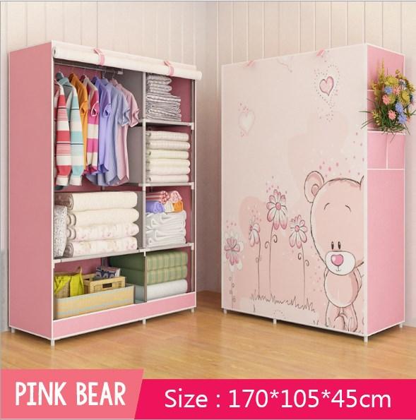 3d Multi Purpose Canvas Wardrobe Cupboard Rail Storage